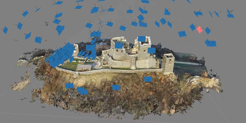 Castles in Hungary-A drone was used to capture 190 photos of the castle.