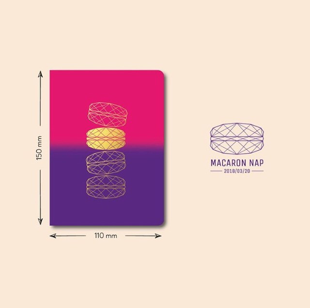 Macaron Day Budapest 2018 - notebook by DOT for You