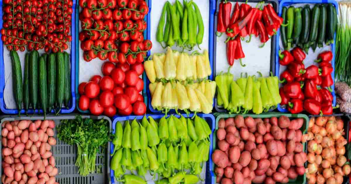 Feny street market - selection of vegetables
