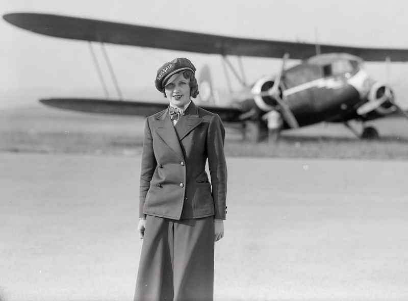 Nelly Diener (1912-1934) as a stewardess of Swissair