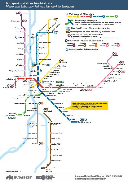 Budapest Subway Map English.The Ultimate Public Transportation Guide To Budapest
