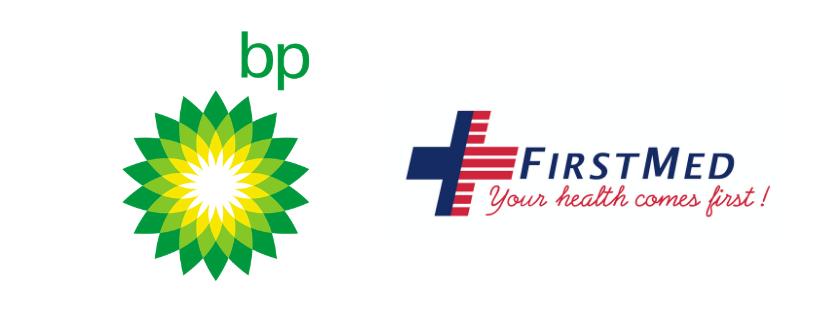 BP and FirstMed sponsor logos